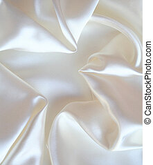 Smooth elegant white silk as background