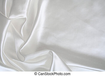 Smooth elegant white silk as wedding background