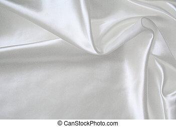 Smooth elegant white silk as wedding background