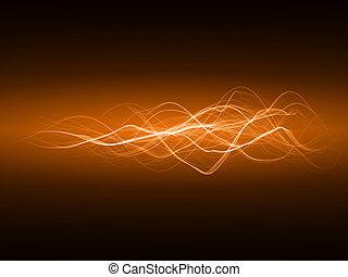 smooth energy waves (orange colored, wide waves version)