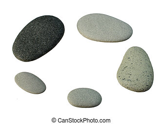 smooth gray pebbles