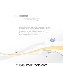 Smooth grayscale lines abstract background. Vector illustration