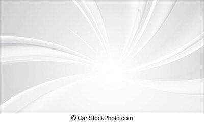 Smooth grey glossy waves abstract swirl motion animated background