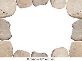 Smooth River Rocks make this Border or Background Image.