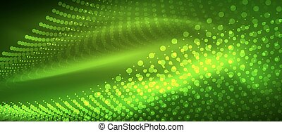 Smooth smoke particle wave, big data techno background with...