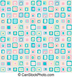 Smooth square vector seamless pattern, net style. For backgrownd, textile