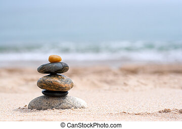 Smooth Stacked Rocks - A pile of round smooth zen rocks ...