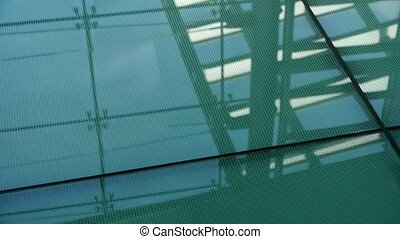 Smooth surface,reflection of roof