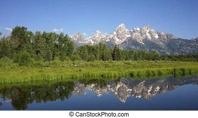 Smooth Water Reflecting Mountains Grand Teton National Park