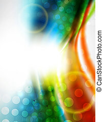 Smooth wave colorful background - Hi-tech smooth wave motion...