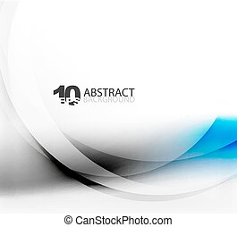 Smooth wave template. Abstract background - vector eps10 ...