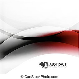 Smooth wave template. Abstract background - vector eps10...