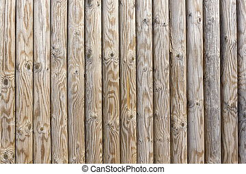 Smooth wooden pine poles wall texture
