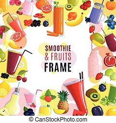 smoothie, フレーム, 背景