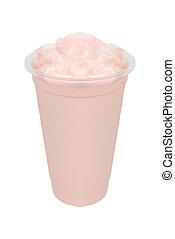 smoothie, alatt, egy, pohár