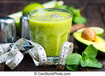smoothie, avocado