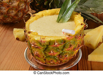 smoothie, banán, ananász