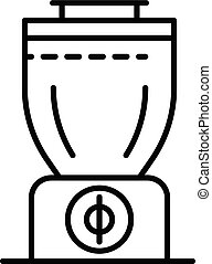 Smoothie blender icon, outline style