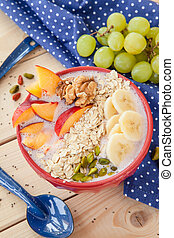 Smoothie Bowl with fresh fruits