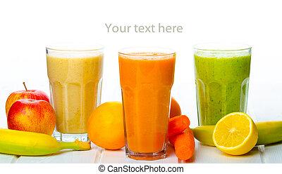 smoothie, dag, tid, för, frisk drink