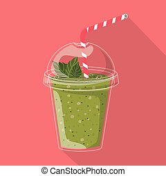 Smoothie design over pink background, vector illustration