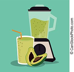 Smoothie drink glass design - Smoothie drink avocado and ...