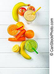 smoothie, dzień, czas, dla, zdrowy napój