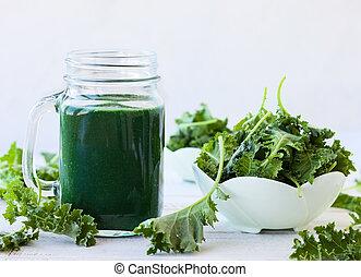 smoothie, frais, vert