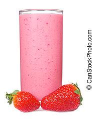 smoothie, fraise