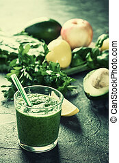 Smoothie from fruit and vegetables