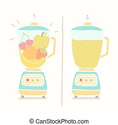 smoothie., fruit, confection, mixer