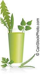 smoothie, grön