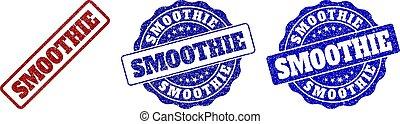 smoothie, gratté, timbre, cachets