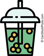 Smoothie icon, outline style