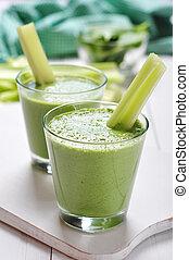 smoothie légume, vert