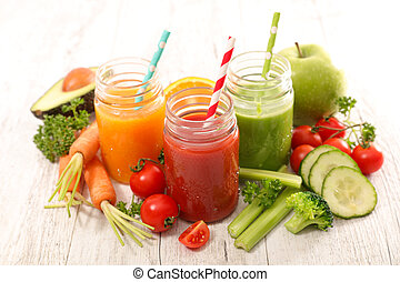 smoothie, legumes, suco, frutas, fresco, ou