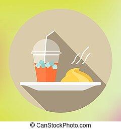 smoothie mashed potatoes flat icon
