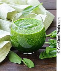 smoothie, organisch, groene, spinazie
