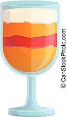 Smoothie persimmon icon, cartoon style