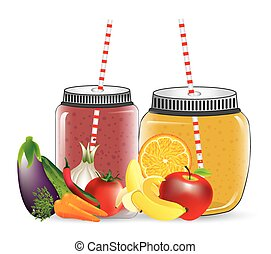 smoothie product design, vector illustration eps10 graphic