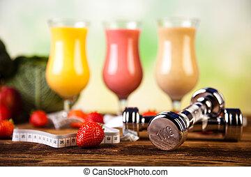 smoothie, régime, sain, et, frais