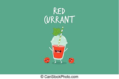Smoothie red currant