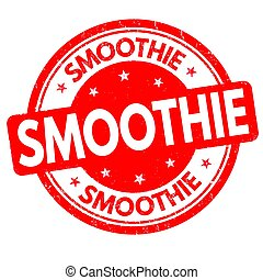 Smoothie sign or stamp
