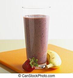 smoothie, strawberry-banana