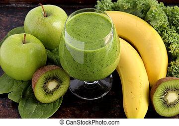 smoothie, vert