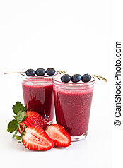 Smoothie with fresh fruits