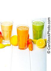 smoothie, zdrowy, dzień, napój, czas