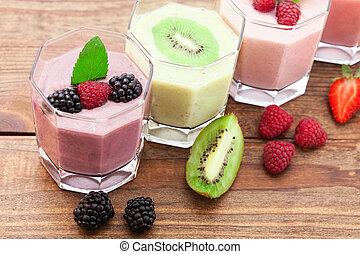 smoothie, zomer, besjes, munt