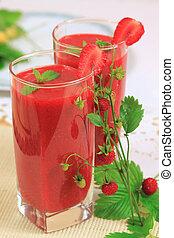 smoothies fraise