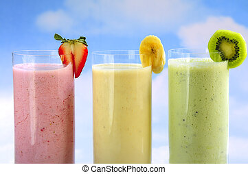 smoothies, fruit, assorti